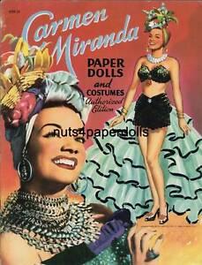 VINTAGE UNCUT 1952 CARMEN MIRANDA PAPER DOLLS HD~LASER REPRODUCTION~LO PR~HI Q