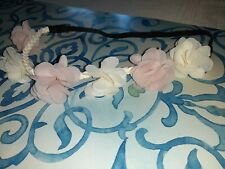 Pink And White Flower Headband Elastic