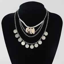 Women Bohemia Fashion Charms Pendant Chain Jewelry Chunky Choker Bib Necklace