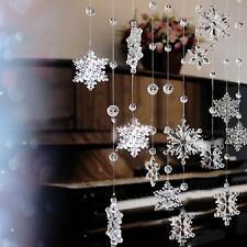 Acrylic Crystal Snowflake Bead Garland Curtain Wedding Party Home Decor DIY