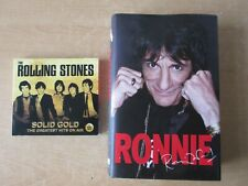The Rolling Stones Solid Gold Greatest Hits CD & Ronnie Wood Autobiography