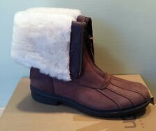 NEW UGG Leather Boots ARQUETTE Stout Brown Women's Size 8