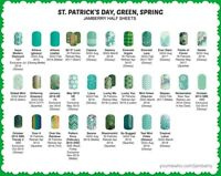 jamberry half sheets 🍀 st. patrick's day green spring 🍀 buy 3 & 1 FREE