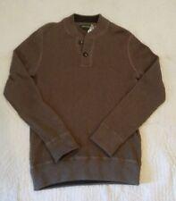 NWT Eddie Bauer Fatigue Sweatshirt Sweater Ribbed Cotton Taupe Heather Mens S