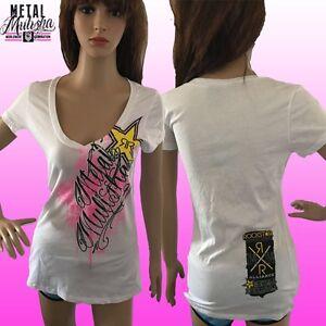 Metal Mulisha Ladies Rockstar Sprayed Tee Size S
