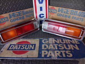 Datsun 70-73 510 Sedan JDM Tail Lights (2x, Left & Right) w/ Harnesses