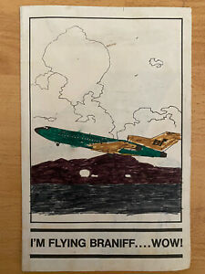 """1965 BRANIFF AIRLINES COLORED BROCHURE PERU SOUTHAMERICA ADV """"I'M FLYINING WOW"""""""