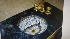 Asian Inspired Custom Under Counter Sink Bowl. Beautiful. Professionally Drilled