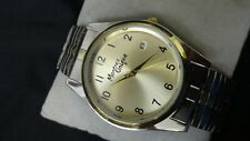 """Mens Montres watch Date 7"""" band black face clean looks hardly worn"""