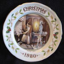 AYNSLEY CHRISTMAS CAROL DICKENS PLATE 1980 Marley's Ghost - L. Woodhouse