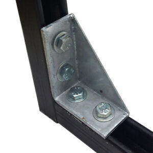 Type 2484 - Right Angle Gusset 2x2 Hole x 25 Quantity