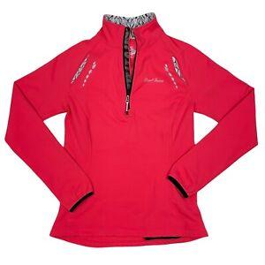 Pearl Izumi Womens Aurora Thermal 1/4 Zip Jacket Sz Medium Pink Cycling 12221115