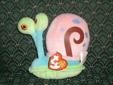 "RARE & RETIRED TY BEANIE BABY~ GARY the Snail 6"" from Sponge Bob ~ MWMT"
