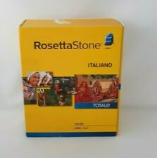Rosetta Stone Italian Level 1 & 2 Language Kit Version 4 Headset Included 2010
