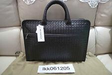 B0TTEGA VENETA Intrecciato Calf Leather Briefcase Made in Italy BV Brown $2,800