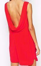 "BCBG  NWT ""Ellie"" Red Cowl- Back Party Dress New 6 LMQ68C64"