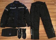 Motorradkleidung - Jacke + Hose + Nierengurt + Handschuhe wie NEU Größe M Frauen