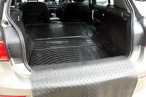 Natural rubber boot load liner dog mat bumper protector BMW F20 1 series 5door