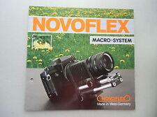 2 Teile Novoflex Gesamtkatalog Fotogeräte 5/87 + .. Macro-System Kamera