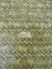 VINYL FAUX FAKE LEATHER SNAKE SKIN SOPYTHANA TEXTURE FABRIC SOLD BY THE YARD