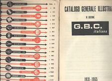 VINTAGE GBC ELETTRONICA ELECTRONICS COMPONENTS CATALOGO G.B.C. 1965