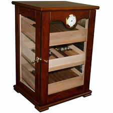 Dark Mahogany Counter Top Display 125 Cigar Humidor External Hygrometer