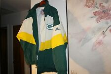 Vintage 90s Green Bay PACKERS Apex One Jacket CURVE NFLProLine BACK PATCH NWT XL