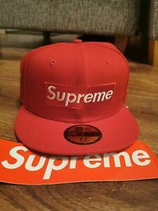 SS21 Supreme Champions Box Logo New Era® Cap RED - Size: 7 1/4 FREE POSTAGE