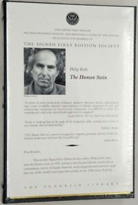 » PHILIP ROTH - The Human Stain 1st Limited Ed. SIGNED Franklin Library SEALED!