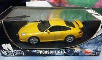 PORSCHE 911 GT3 GIALLA  HOTWHEELS HOT WHEELS MATTEL - SCALA 1-18  NUOVA