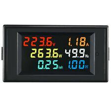 Ac 80 300v Digital Ammeter Voltmeter Volt Amp Power Kwh Frequency Factor 100a Ct