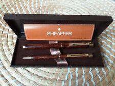 Sheaffer Targa 1030 Brown Thula Fountain Pen + Pen 14k Gold Nib box instructions