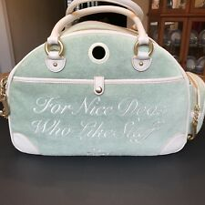 """Juicy Couture """"for Nice Dogs Who Like Stuff"""" Small Pet Carrier"""