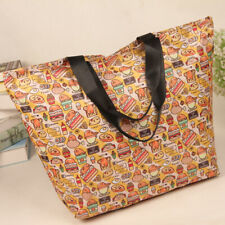 gudetama egg fold handbag travelbag recycle bag zip storage bags gift new