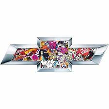2 Sticker Bomb US Universal Chevy Bowtie Vinyl Sheets Emblem Overlay