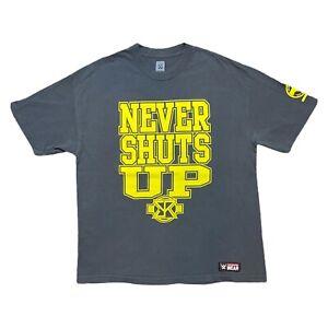 WWE Seth Rollins Never Shuts Up T Shirt Grey XL John Cena Parody U Can't C Knee