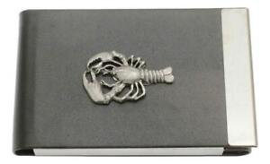 Lobster Business Card Holder BCH Black PU & Metal Gift 426