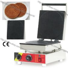 Commercial Nonstick Electric Round Dutch Syrup Waffle Maker Iron Baker Machine