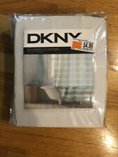 NEW DKNY Highline Stripe Shower Curtain  X-Long Aqua  Sz 72x96 100% Cotton