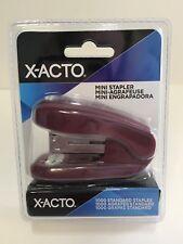X-Acto Mini Stapler with 1000 Count Staples, Berry