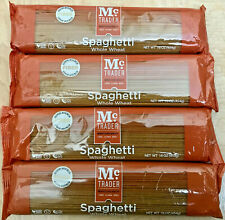 4 Pack, McTrader Whole Wheat Spaghetti Quality Pasta Noodle 16oz each, Non-GMO