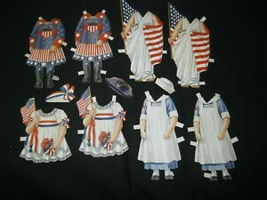 Vintage Paper Dolls War NURSE - MILITARY Uniform Lady Liberty Patriotic  4B