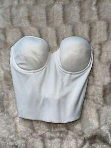 Victoria's Secret white corset bra 36B