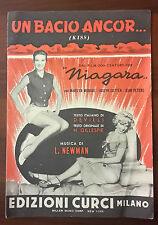 SPARTITO MUSICALE UN BACIO ANCOR DAL FILM NIAGARA CON MARILYN MONROE 1954