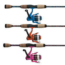 "Shakespeare PINK 6'0"" AMPHIBIAN Fishing Spin Rod & Reel Combo - 2 Piece"