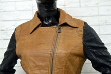 Giacca in Eco Pelle YES MISS Giubbino Donna Woman Taglia Size L Jacket Man