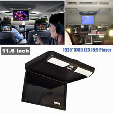 """11.6"""" Universal Car Roof Mount Flip Down Mp5 Monitor Overhead Video Fm Hd Player"""