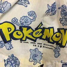 Vintage Children's Pokemon Fun Flat Twin Bed Sheet Pikachu 1998 Nintendo VGC