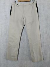 Dior Homme SS04 Hedi Slimane Leather Pocket Khaki Pants size 48