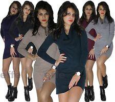 Maxipull miniabito  donna vestito maxi maglia abito maglione pullover nuovo 8210